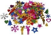 Pailletten, afm 8-50 mm, sterke kleuren, Kerst, 35gr