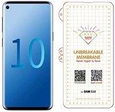 Ntech Samsung Galaxy S10 Diamond Film Folie Screenprotector Full-screen   Fingerprint Unlocking Transparant/Clear