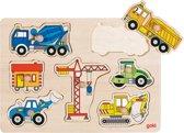 Goki Steekpuzzel Bouwwerfvoertuigen