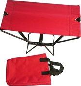 The amazing POCKET CHAIR. Compact opvouwbaar stevig stoeltje voor buitengebruik. Op reis, camping, festival, sportwedstrijd, etc.