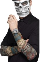 2x Tattoo sleeves Day of the Dead voor volwassenen - Verkleed accessoires