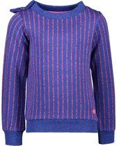 Kidz-art Meisjes sweaters Kidz-art Girls fancy lurex stripe jacquard kn blauw 134/140