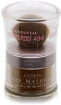 L'Oreal Bare Naturale Gentle Mineral Blush  Powder with Brush  494 Shimmering Bronze