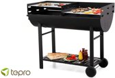 Tepro Dallas Houtskool Barbecue Grillwagen Extra Zwaar