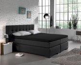 Home Care Jersey Topper - Hoeslaken - 180x200/220 - Zwart