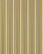Strepen behang hoogwaardig vinylbehang EDEM 825-28 ivoorkleurig chocolade bruin groen grijs | 70 cm