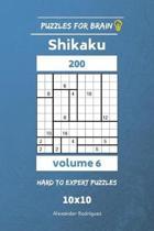 Puzzles for Brain - Shikaku 200 Hard to Expert 10x10 Vol. 6