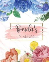 Freida's Planner: Monthly Planner 3 Years January - December 2020-2022 - Monthly View - Calendar Views Floral Cover - Sunday start
