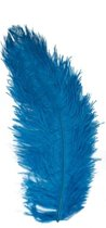 Blauwe Zwarte Piet struisveer 35 cm