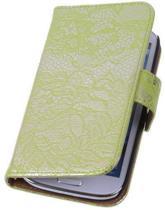 Lace Groen Samsung Galaxy S4 Book/Wallet Case/Cover Hoesje
