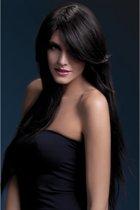 Luxe pruik met donkerbruin haar | 71 cm lang