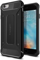 Spigen Rugged Armor voor Apple iPhone 6/6s Back Cover - Zwart
