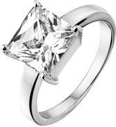 Silventi 943281398-58 Zilveren Ring - met Zirkonia - Rond - 8 mm - Zilverkleurig