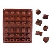 Kitchen Princess - Siliconen Chocoladevorm Groot - Bonbonvorm