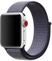 Sport Loop Bandje voor Apple Watch 38mm / 40mm - KELERINO. - Navy Blauw