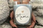 Geurkaars-Sojawax-Wolk - Medium mama-Houten lont- Made by Mama