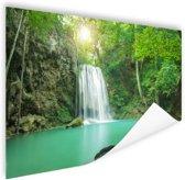 Erawan jungle waterval Poster 60x40 cm - Foto print op Poster (wanddecoratie)