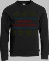 Sweater OUBOLLIG KERSTTRUI-MOTIEF OP JE T-SHIRT - Zwart - XXXL