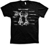 STAR WARS - T-Shirt AT-AT Sketch - Black (XXL)