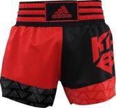 adidas Kickboksshort SKB02 Rood/Zwart Small