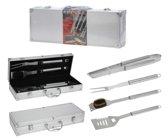 Barbecuegereedschapset - Inclusief luxe aluminium koffer - 4-delig