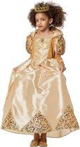 Koningin jurk goud voor meisje maat 140