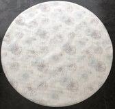 Palace Fashion Tafelzeil - Rond 160 cm - Star Flower - White Brown