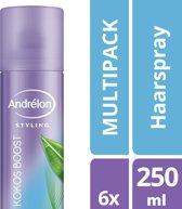 Andrelon Styling Haarspray Kokost Boost - 250 ml - 6 stuks - voordeelverpakking