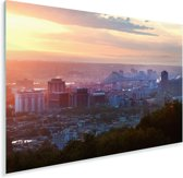 Wolken boven skyline van Montreal in Canada Plexiglas 90x60 cm - Foto print op Glas (Plexiglas wanddecoratie)
