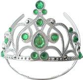 Elsa Frozen kroon / tiara Elsa of Anna kroon groen bij Prinsessen jurk