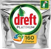 Dreft Platinum Orange - Halfjaarbox 4x40 Stuks - Vaatwastabletten