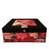The Dutch Tea Box Rozen theedoos - 9 vaks - Zwart