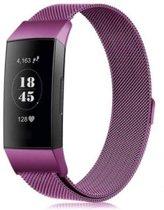 Milanees bandje Paars geschikt voor Fitbit Charge 3 - SmartphoneClip