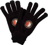 Feyenoord Handschoenen Logo Senior Zwart Maat S/m