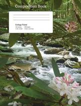 Stream Flowers Composition Notebook, College Ruled