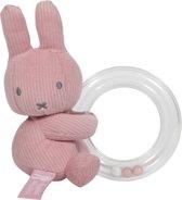 Ringrammelaar nijntje Pink Baby Rib