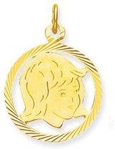 Classics&More - Gouden Graveerplaatjes Meisje - 15 x 15 mm