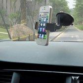 Autohouder Zwart met Zuignap voor bevestiging op de Auto Voorruit - voor onder andere Apple iPhone 7 (Plus) / 6/6s (Plus) / 5/5S/5C/SE / Samsung Galaxy S7 (Edge) / S6 (Edge) (Plus) / Huawei P10 (Lite) - Car Holder for Any type of Grip