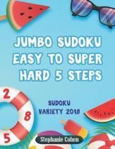 Jumbo Sudoku Easy to Super Hard 5 Steps