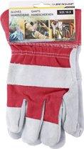 1 Paar tuinhandschoenen/werkhandschoenen rood/grijs gestreept - Bouwhandschoenen - Klussen/Tuinieren