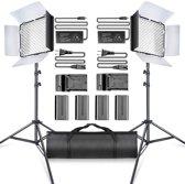 Draadloze Studio Lichten Set 3200 K/5500 K - Studio Lamp - Fotolamp Op Accu Fotografie + GRATIS Opbergtas - TL-600
