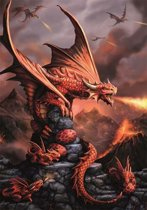 Anne Stokes Wenskaart Fire Dragon