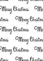 Cadeaupapier Kerstpapier Glitter Merry Christmas K6591591/8 - Toonbankrol breedte 50cm - 100m lang