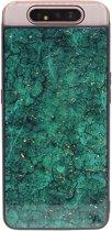 Shop4 - Samsung Galaxy A80 Hoesje - Harde Back Case Mineralen Groen