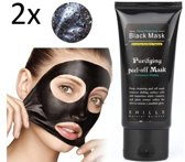 2 stuks van 50 ml | Black Head Peel Off Mask Tube | Mee Eters & Acne verwijderen | Peel Off Mask | Blackhead Pilaten Masker | Black Head Mask | Shills Natuurlijke Producten | Hype Rage 2017