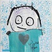 Poul Pava - Doek Blue Horizon - 120x120 cm