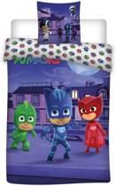 PJ Masks City - Dekbedovetrek - Eenpersoons - 140 x 200 cm - Multi