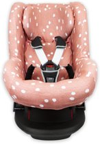 Briljant Baby Autostoelhoes interlock - maat 1+ rugsteun - grey pink - spots