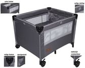 X-Adventure Campingbed en Box Born Lucky Grey (incl. bodemverhoger)