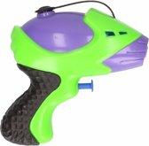 Waterpistool paars/groen 10 cm